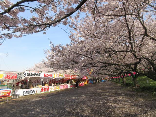 幸手桜まつりの屋台
