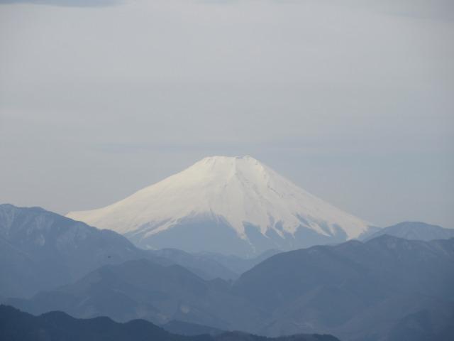 高尾山山頂の富士山