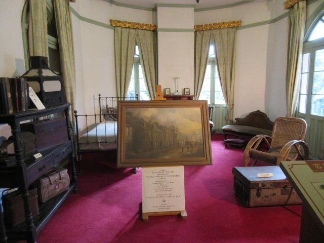グラバー邸の来客用の寝室
