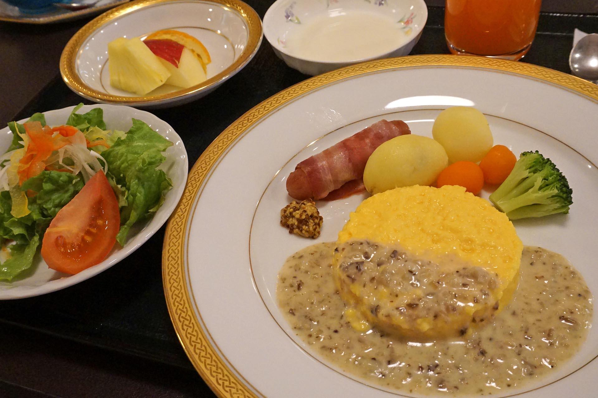ユウベルホテル松政の朝食