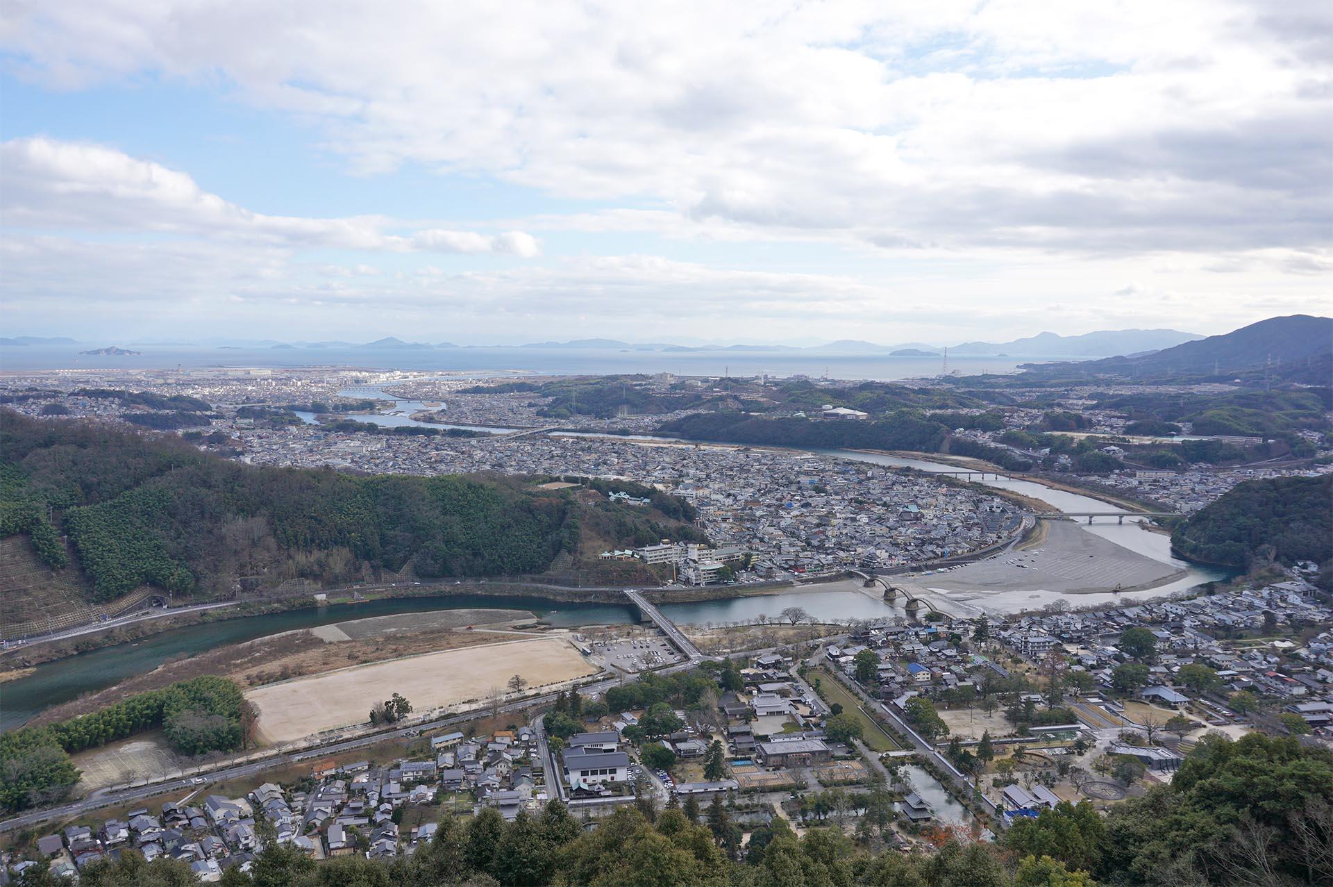 岩国城天守閣からの眺望