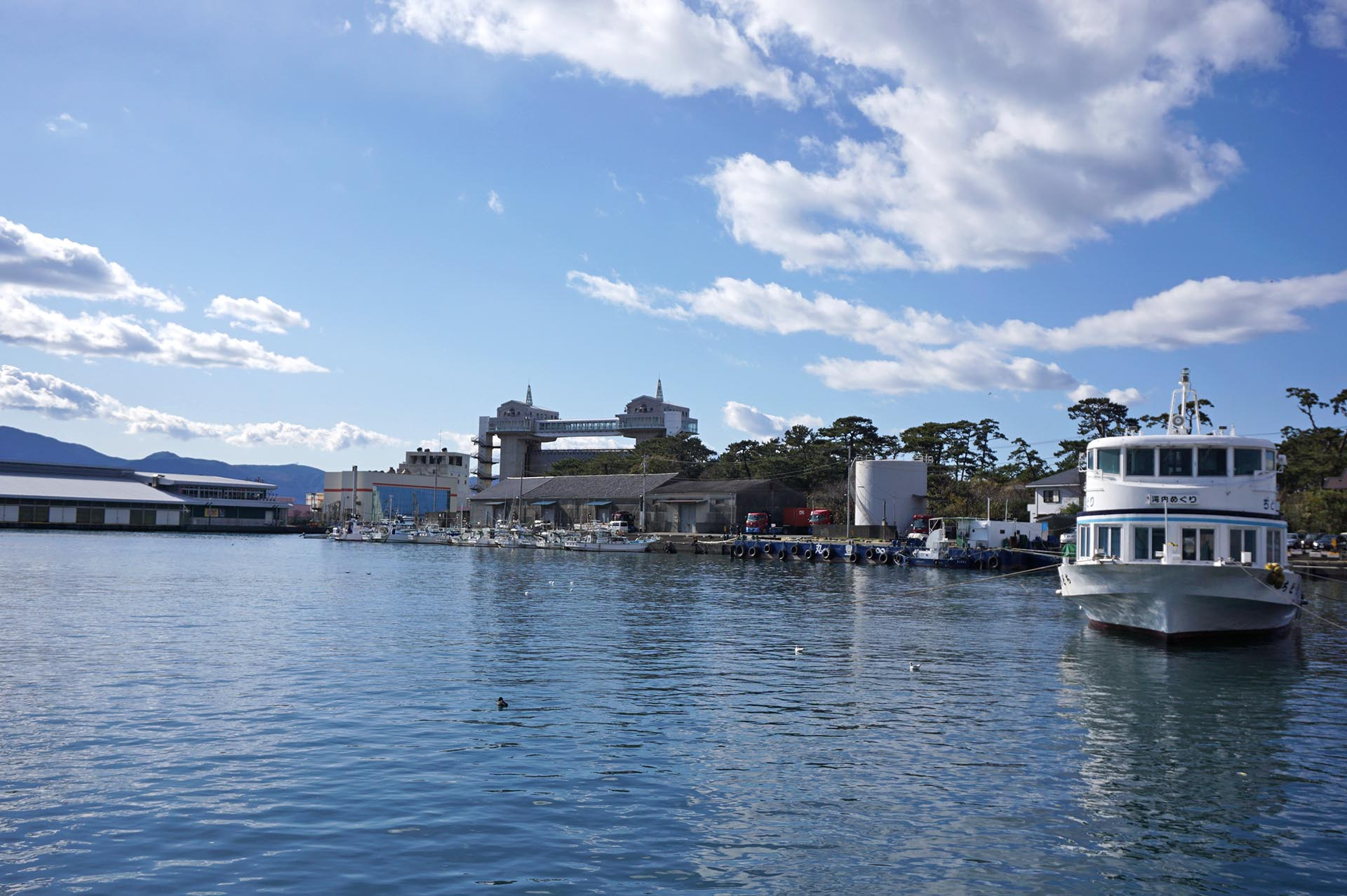 沼津港と駿河湾