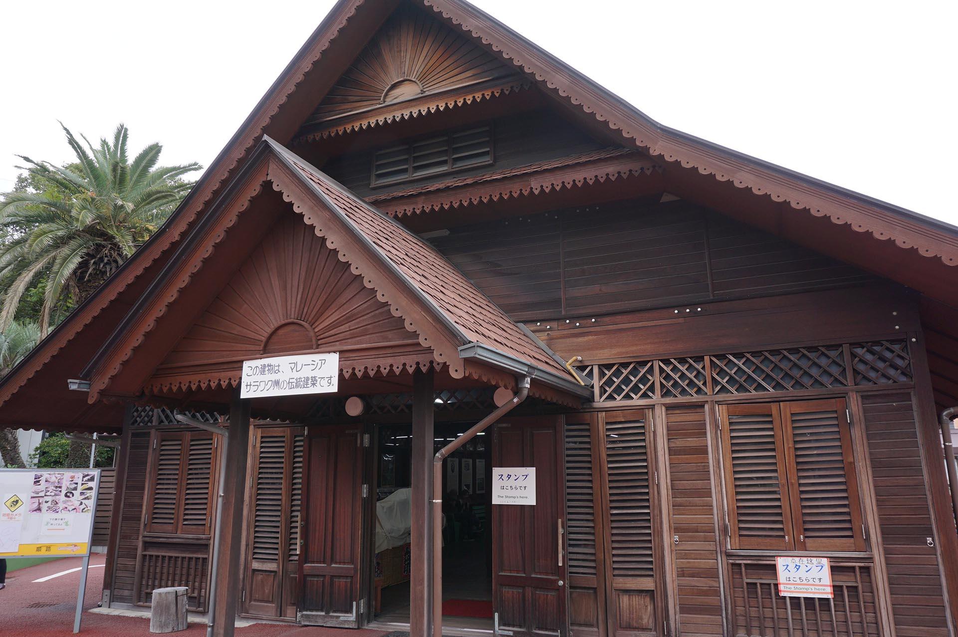 マレーシアのサラワク州の伝統家屋