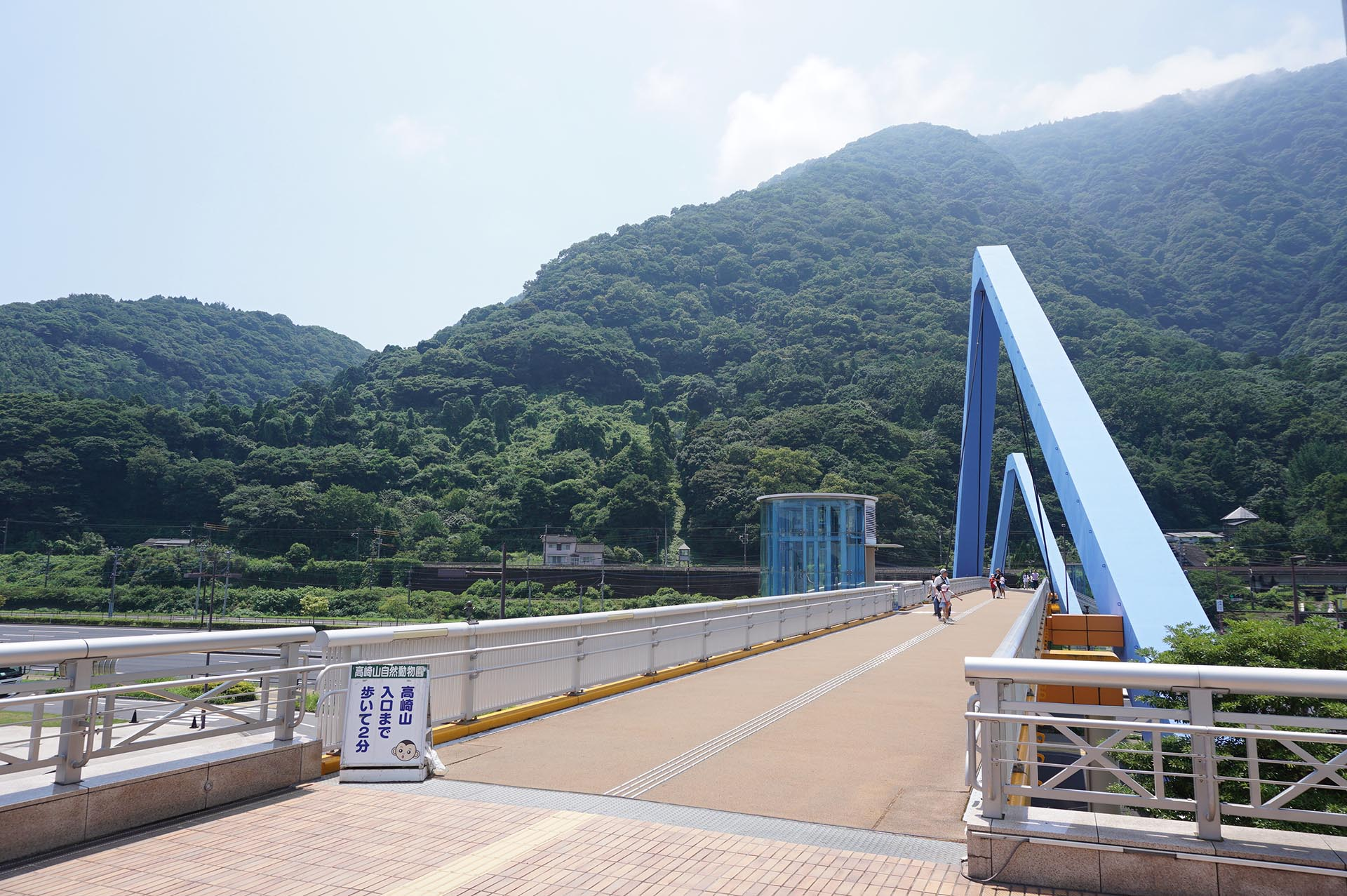 高崎山自然動物園とうみたまごをつなぐ歩道橋