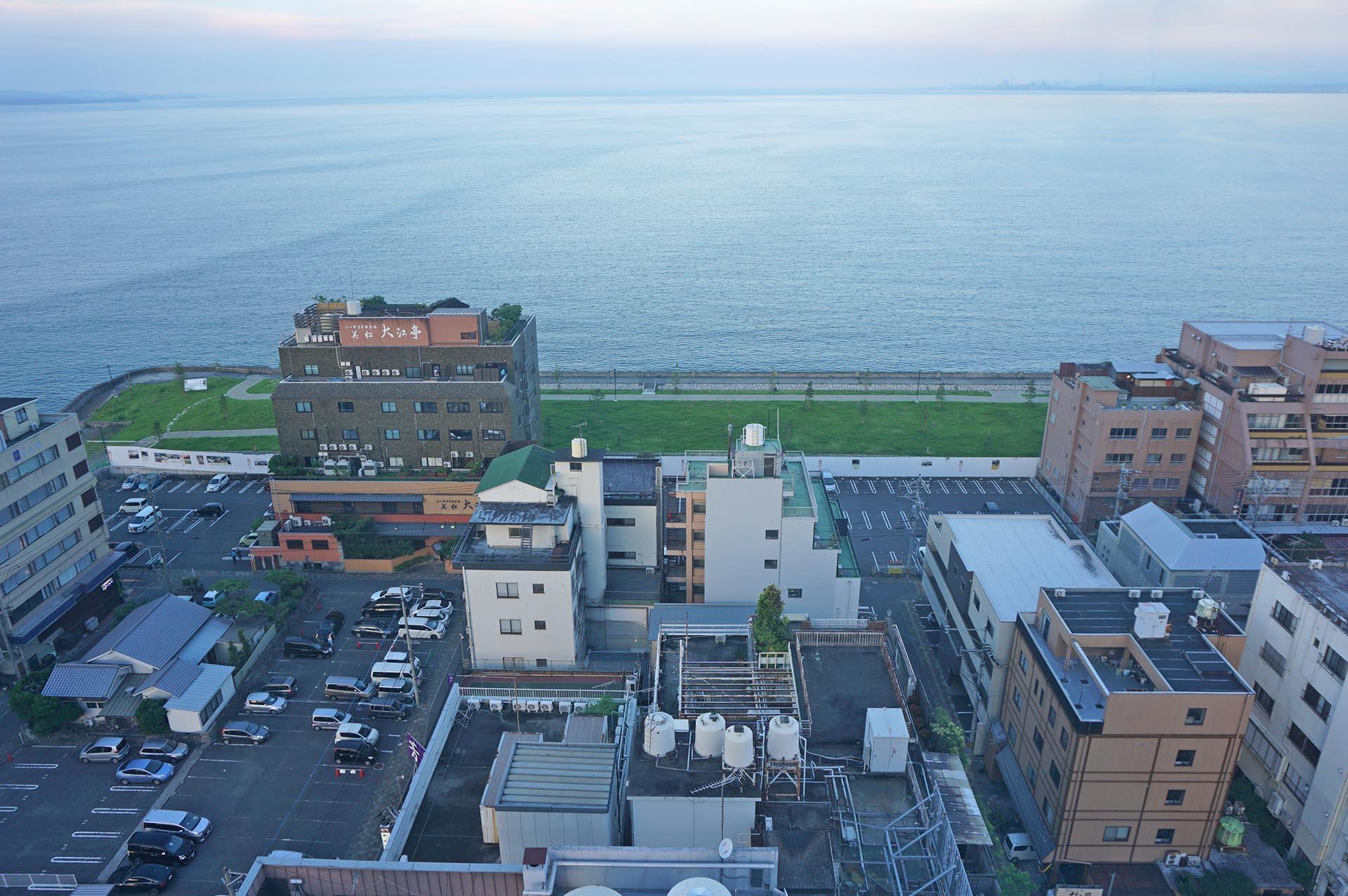 別府タワーから見える別府湾