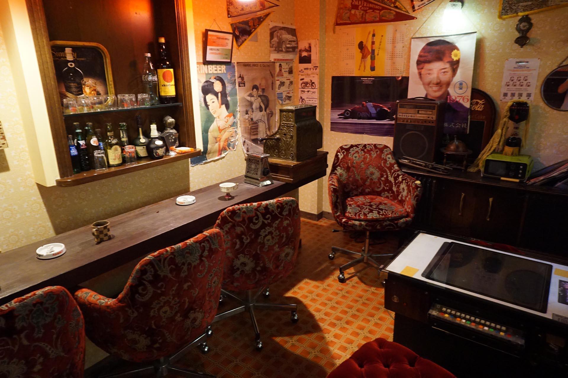 湯布院昭和館の喫茶店