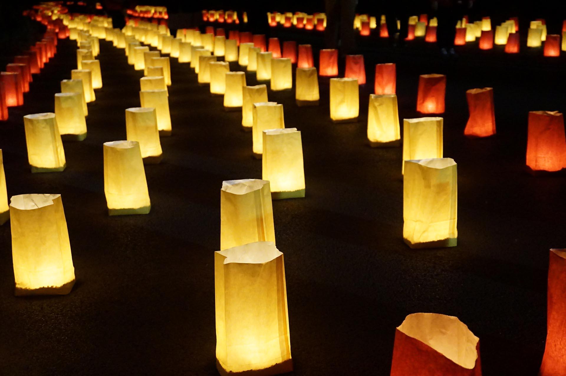 吉野ヶ里歴史公園のキャンドル(光の響)