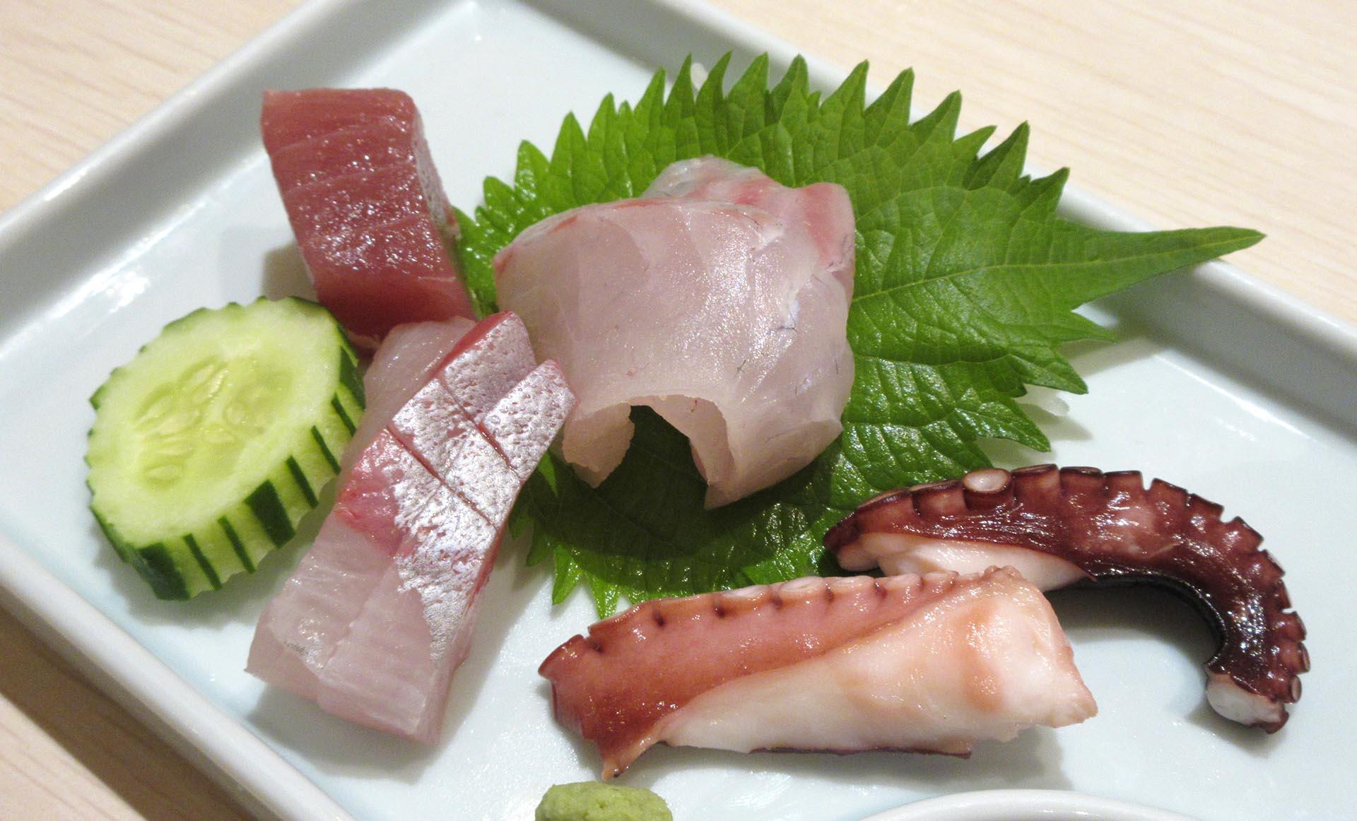 杉乃井ホテルの夕食(刺身)