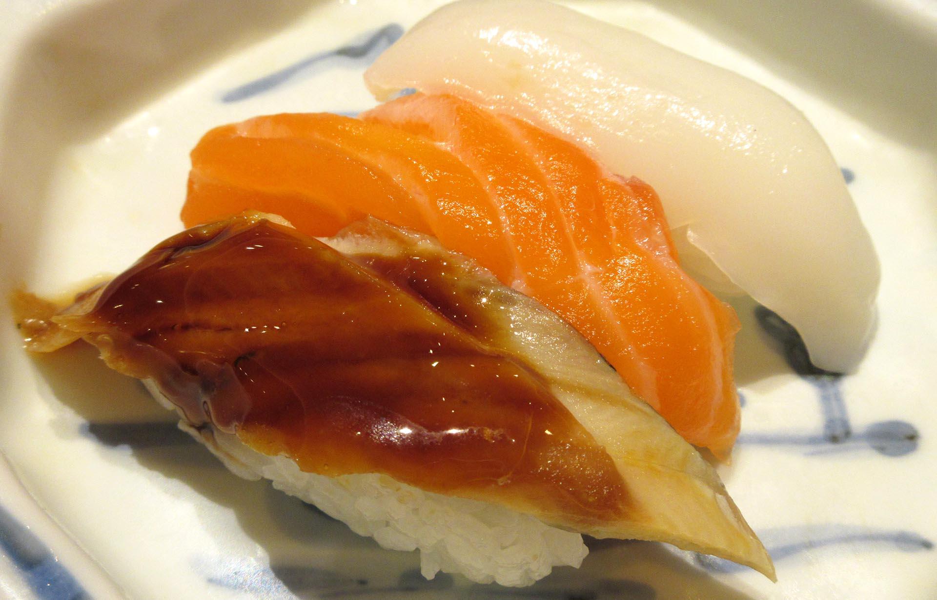 杉乃井ホテルの夕食(寿司)